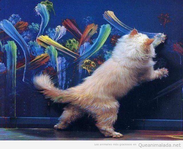 Gato pintor artista