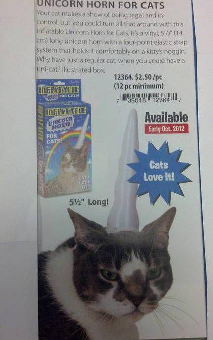 Se venden cuernos de unicornio para gatos