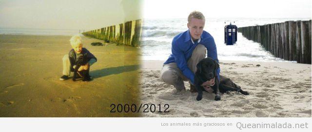 Un niño y su perro 12 años después