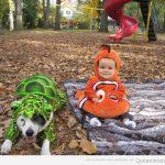 Foto bonita del día: perro y bebé en Halloween