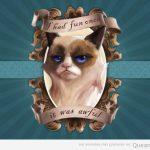 El grumpy cat una vez se lo pasó bien…