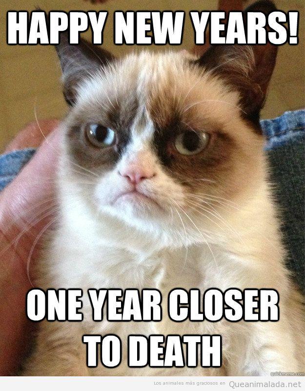 Grumpy Cat te desea Feliz Año nuevo