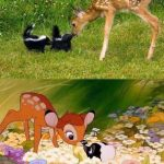 Una bonita escena de Bambi en la vida real