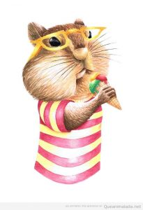 Ilustraciones animales, hamster