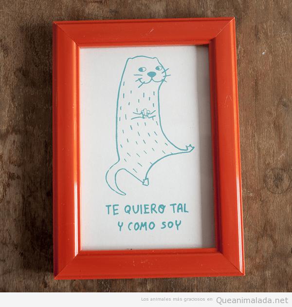 Ilustraciones graciosas animales nutria