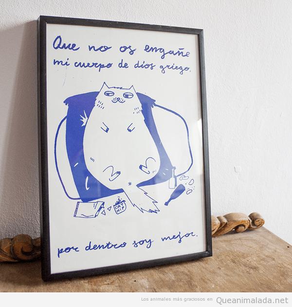 Ilustraciones graciosas animales gato