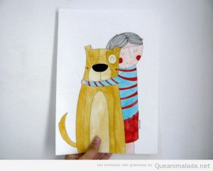 ilustraciones bonitas animales y niños 2