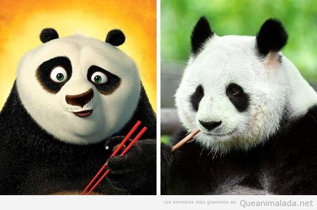 Animales de dibujos animados y sus dobles en la vida real 9