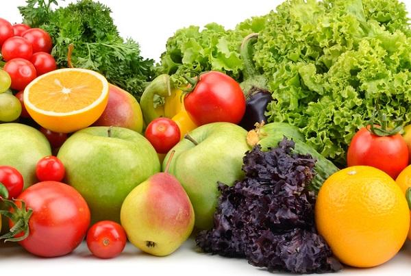 Frutas y vegetales para perros