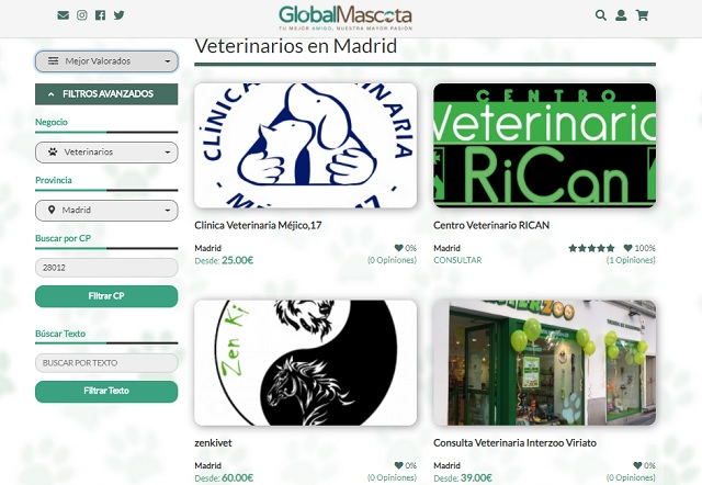 Buscador veterinarios